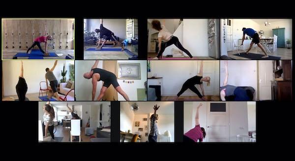 Online yoga class livestream